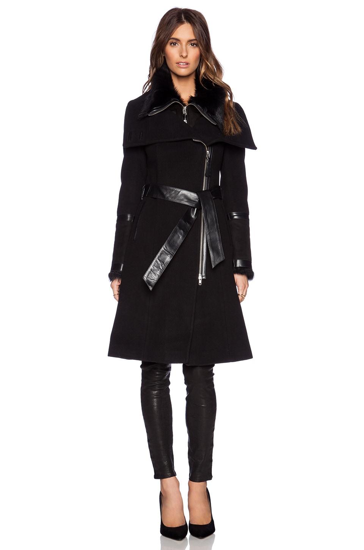 Mackage Isabel Jacket with Lamb Fur in Black