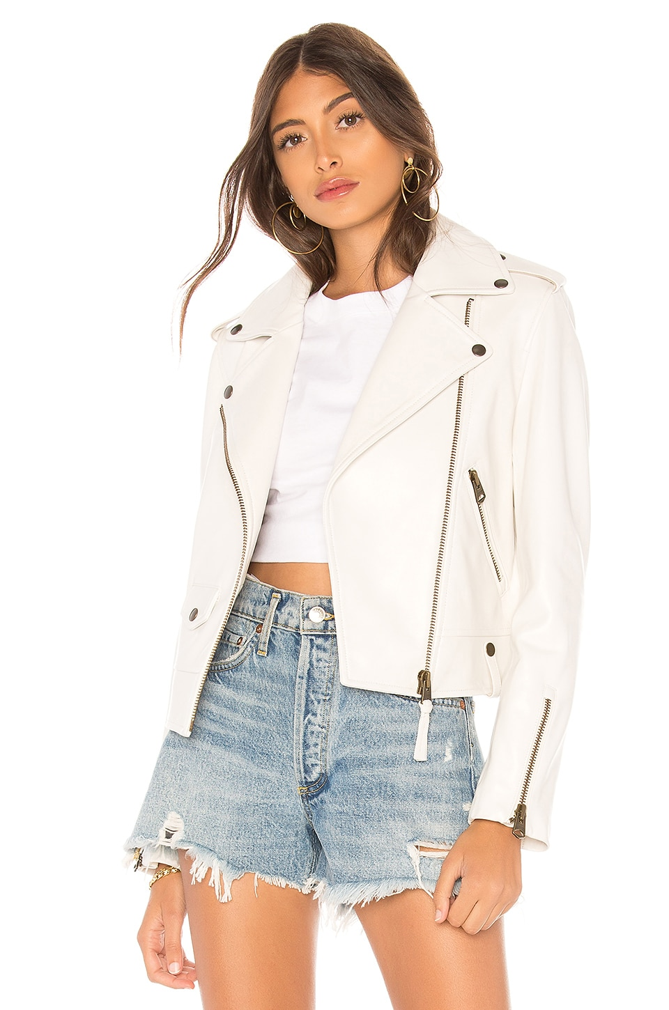 Mackage Baya Leather Jacket in White