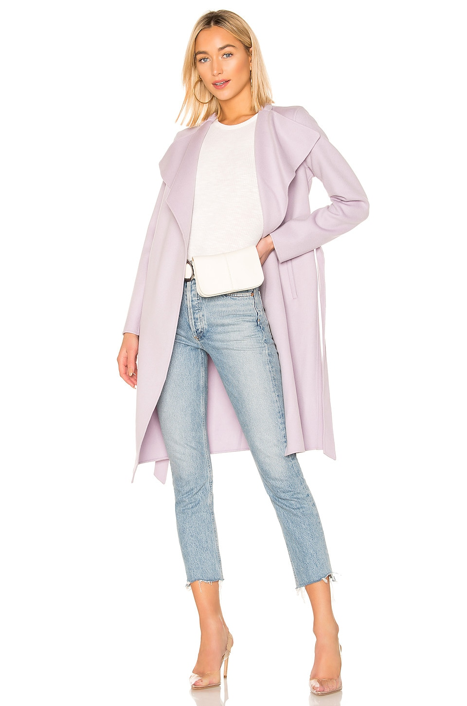 Mackage Leora Doubleface Wool Coat in Lilac