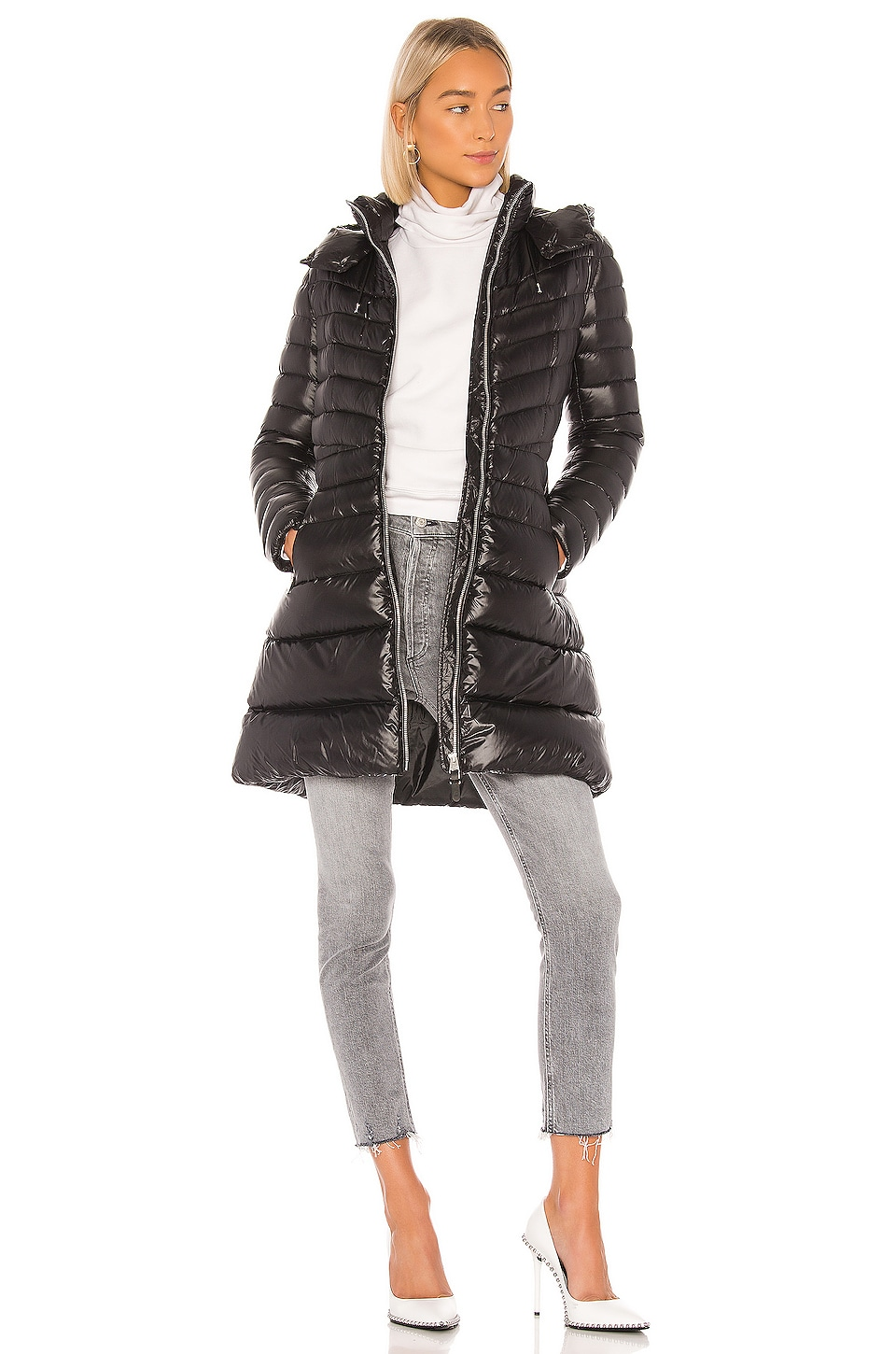 Mackage Lara Puffer Coat in Black