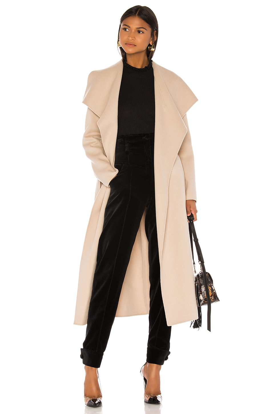 Mackage Mai Trench Coat in Sand