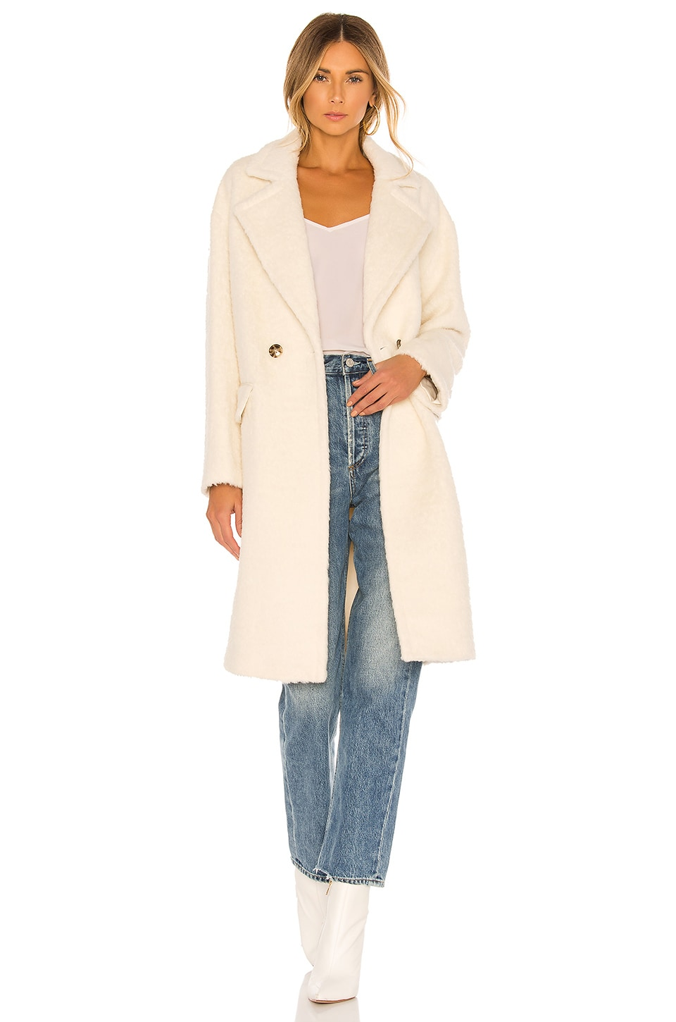 Mackage Eve Wool Coat in Off White