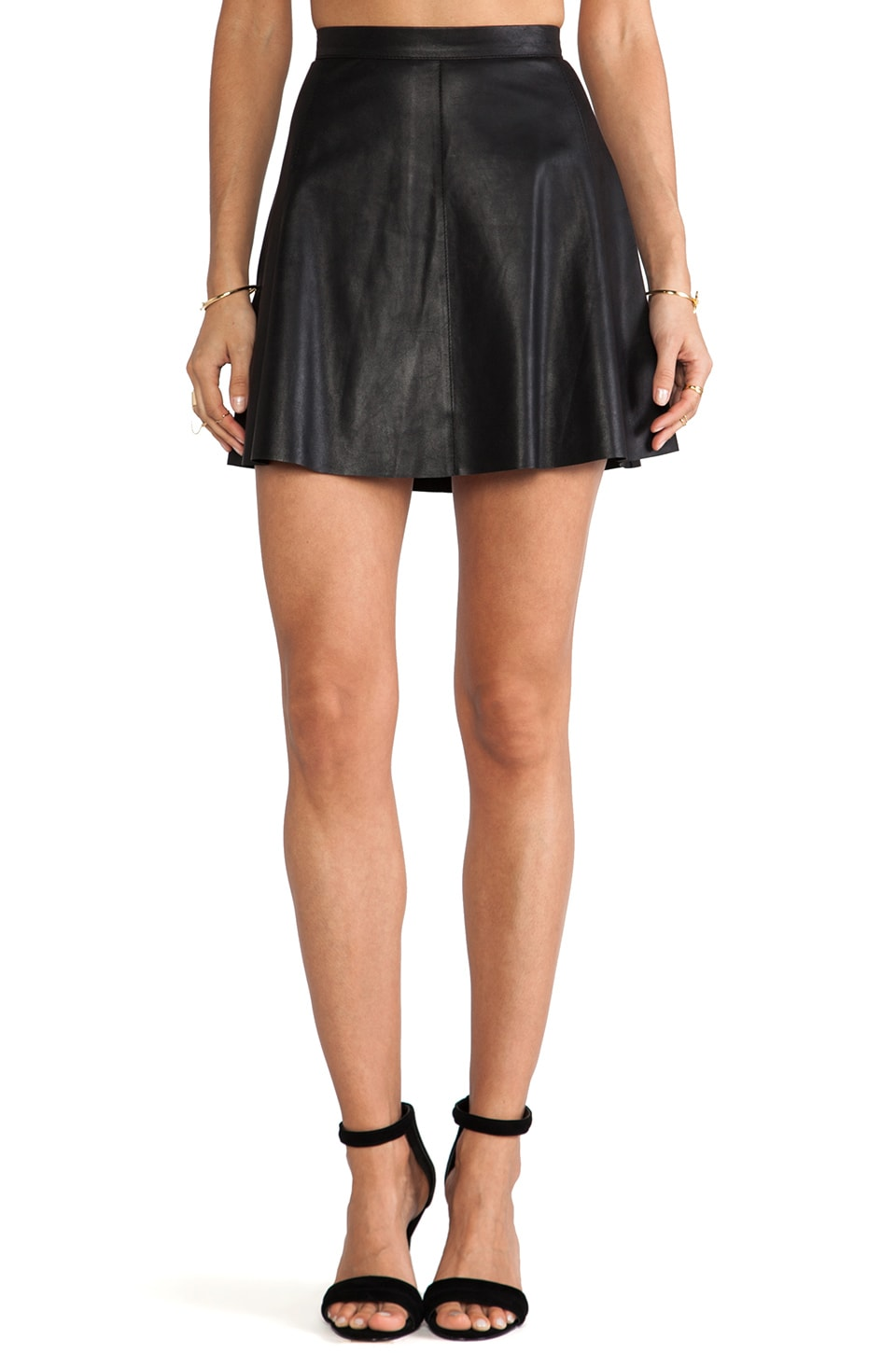Mackage Violca Leather Skirt in Black