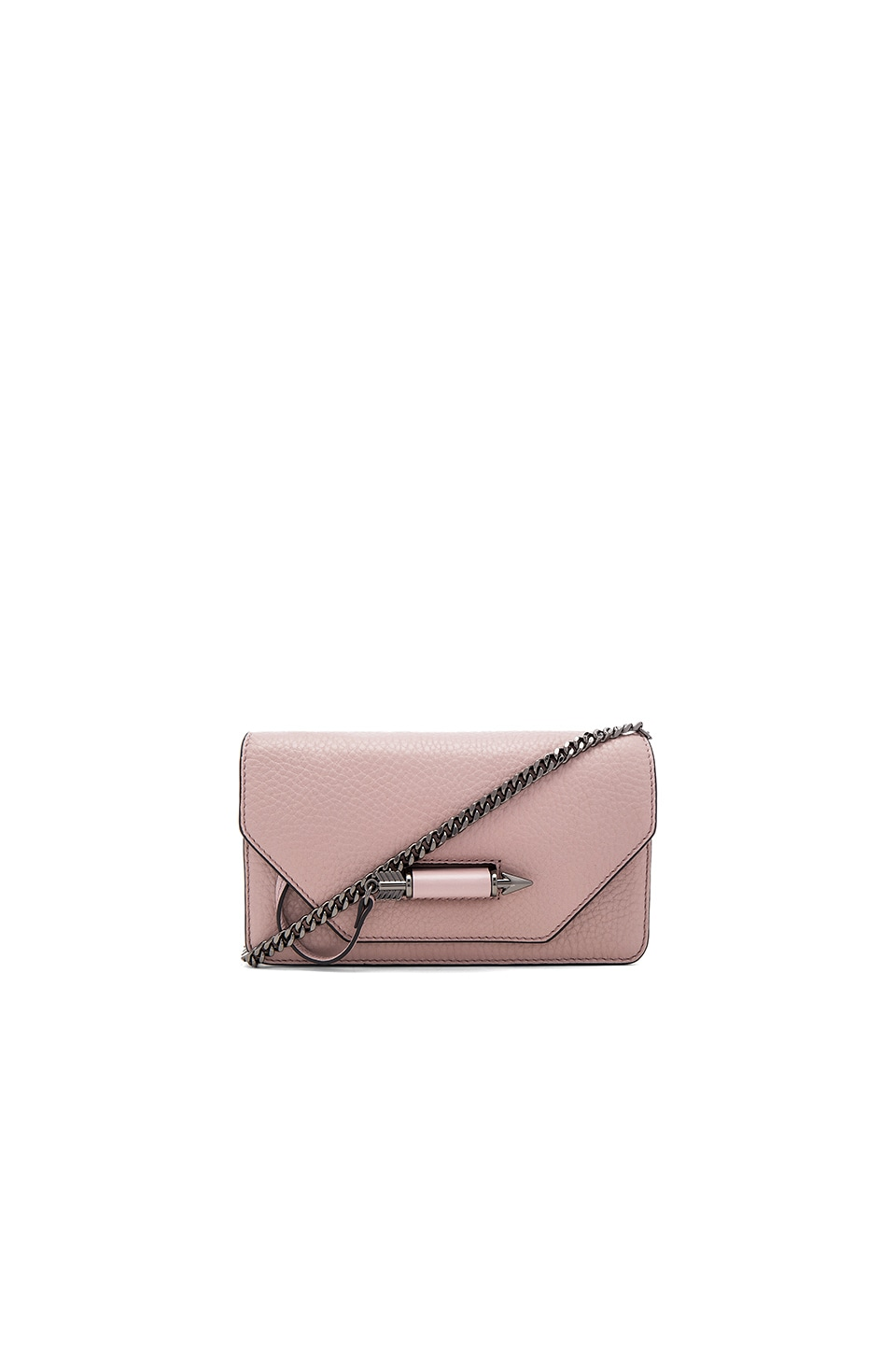 Mackage Zoey Mini Crossbody in Blush & Gunmetal
