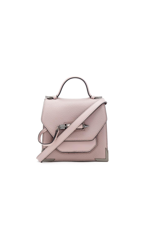 Mackage Rubie Mini Crossbody Bag in Blush & Gunmetal