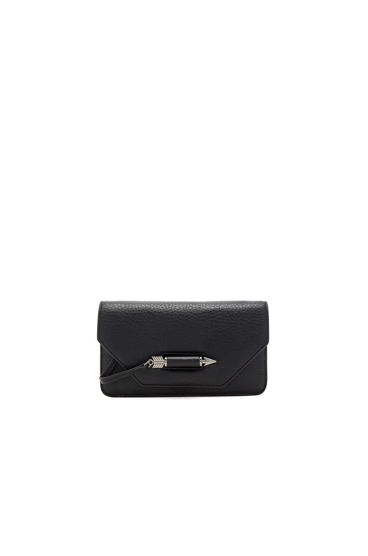 Mackage Zoey Mini Crossbody Bag in Black & Gunmetal