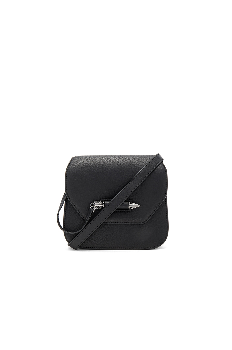 Mackage Novaki Mini Crossbody Bag in Black & Gunmetal