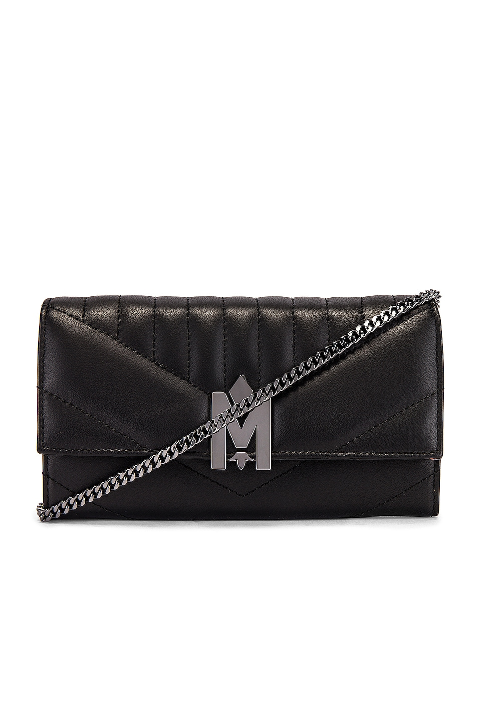 Mackage Anata Wallet in Black & Brass
