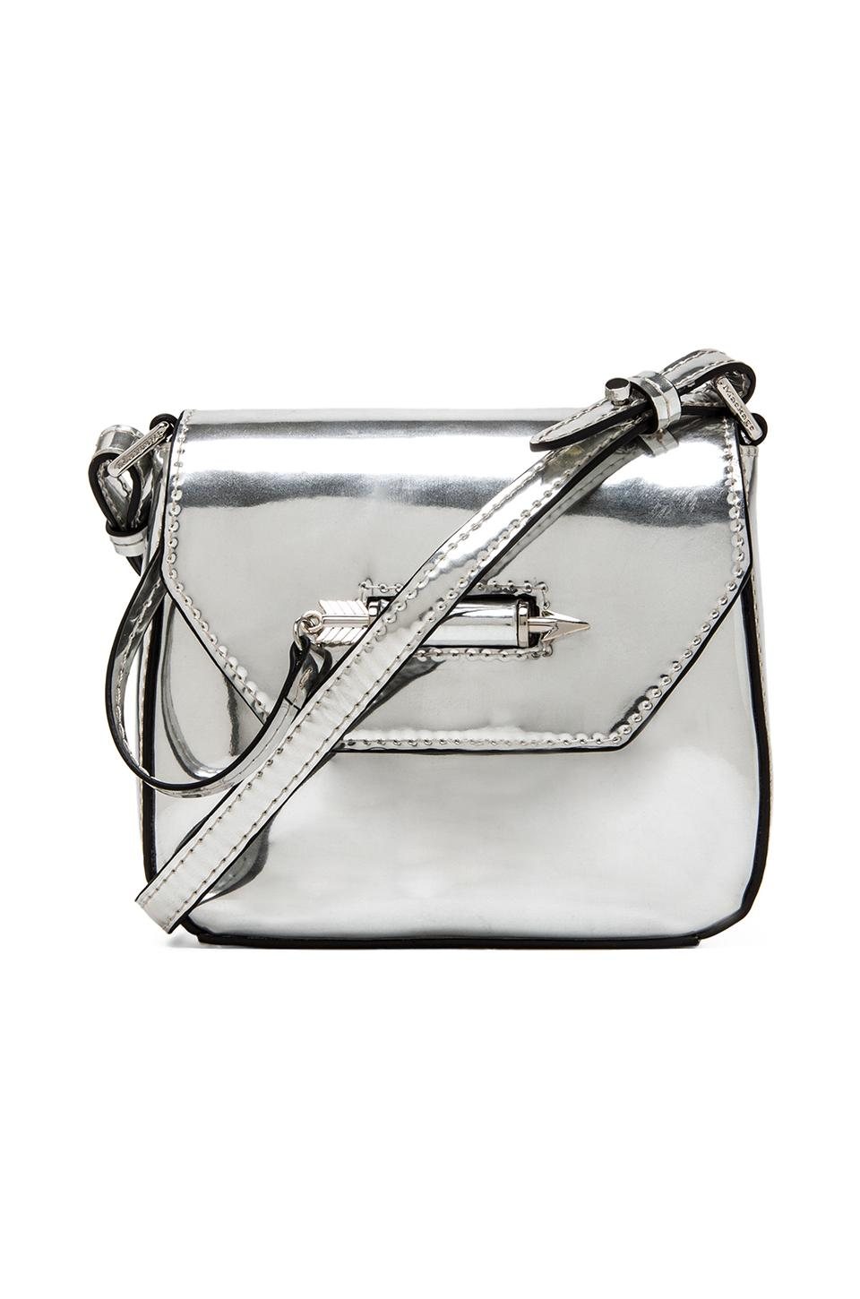 Mackage Novaki Small Crossbody in Silver Mirror