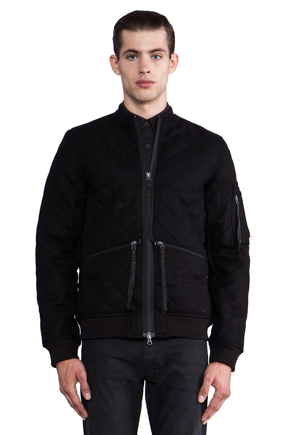 Maharishi Quilted MA13 Jacket in Black
