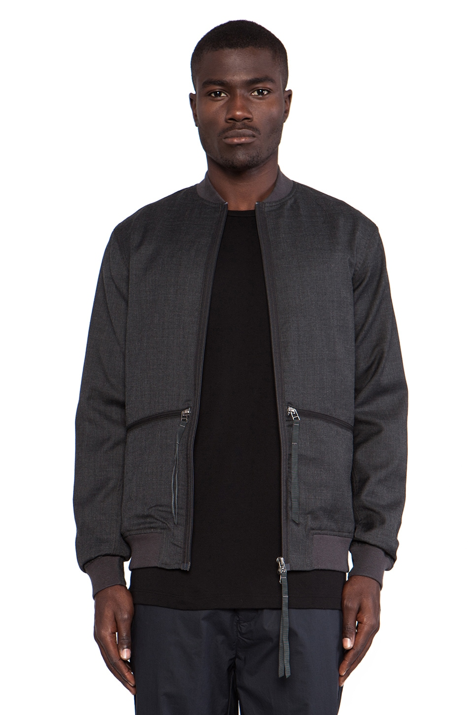 Maharishi Official Short Flight Jacket in Charcoal