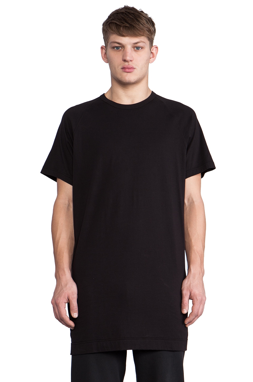 Maharishi Long Slouch T-Shirt in Black