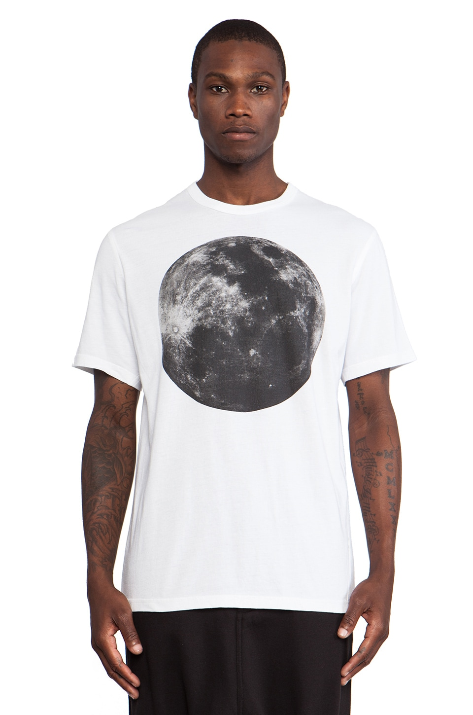 Maharishi Full Moon Slouch T-Shirt in White