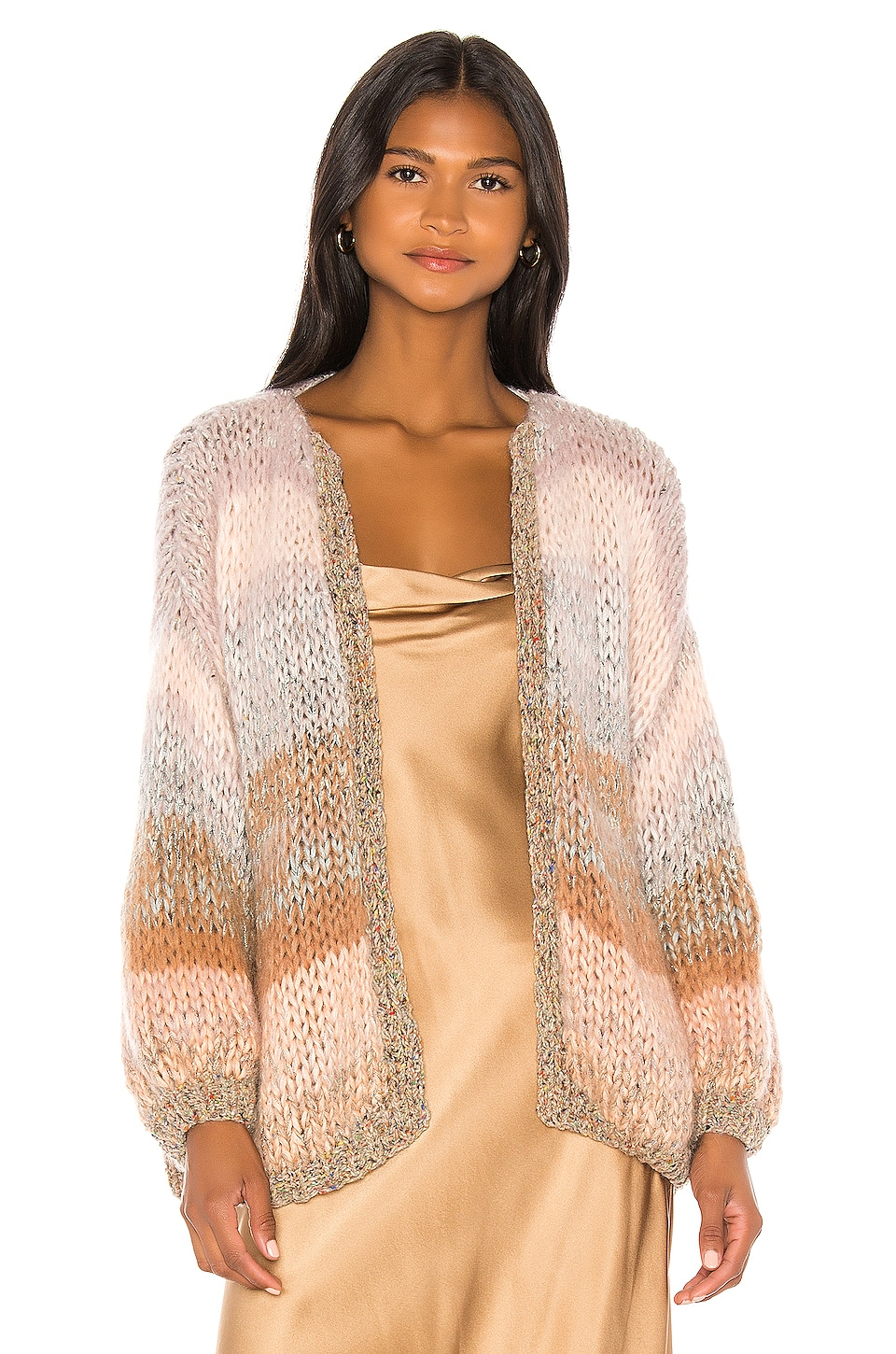 Maiami Ombre Big Cardigan in Multi Soft