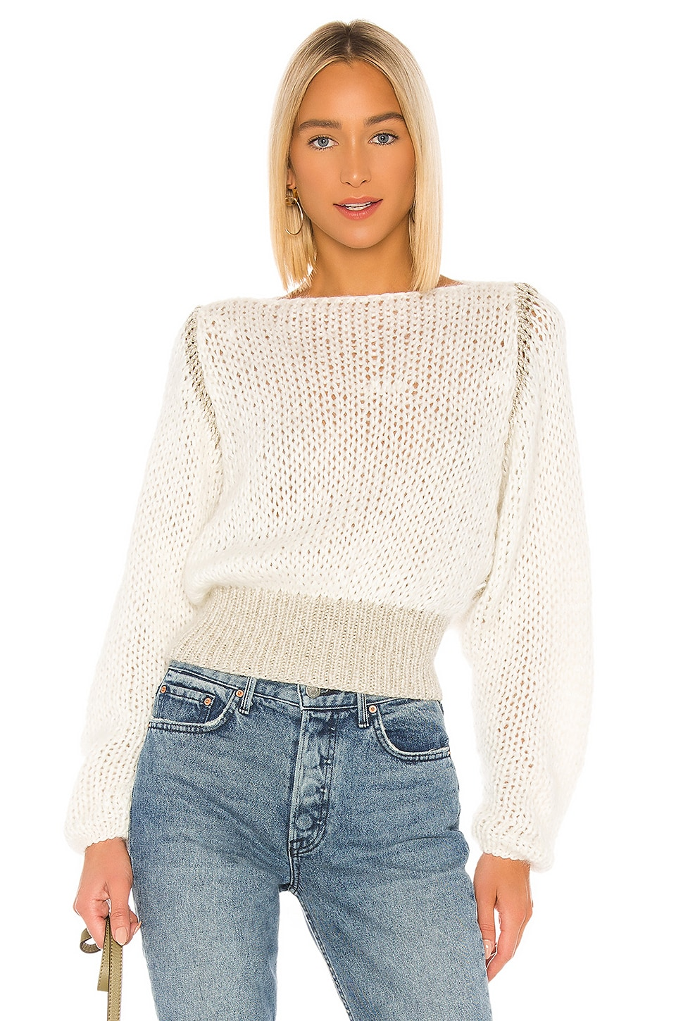 Maiami Batwing Sweater in Creme