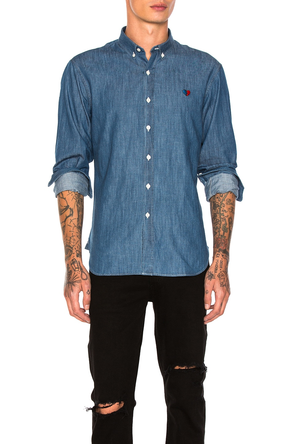Coeur Brise Button Down by Maison Labiche