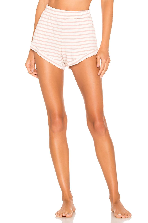 MAISON DU SOIR Elody Shorts in Rose Stripe
