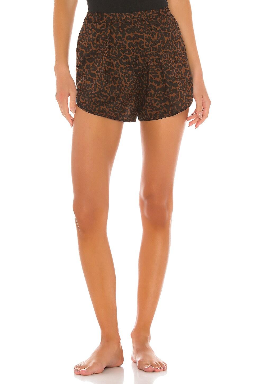 MAISON DU SOIR Firenze Cotton Short in Cheetah Print