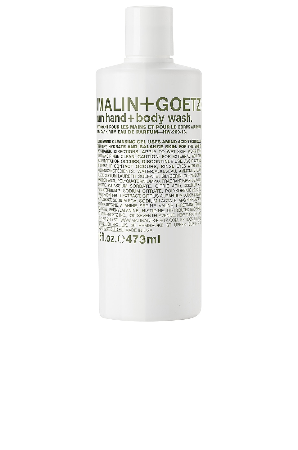 MALIN+GOETZ Rum Body Wash
