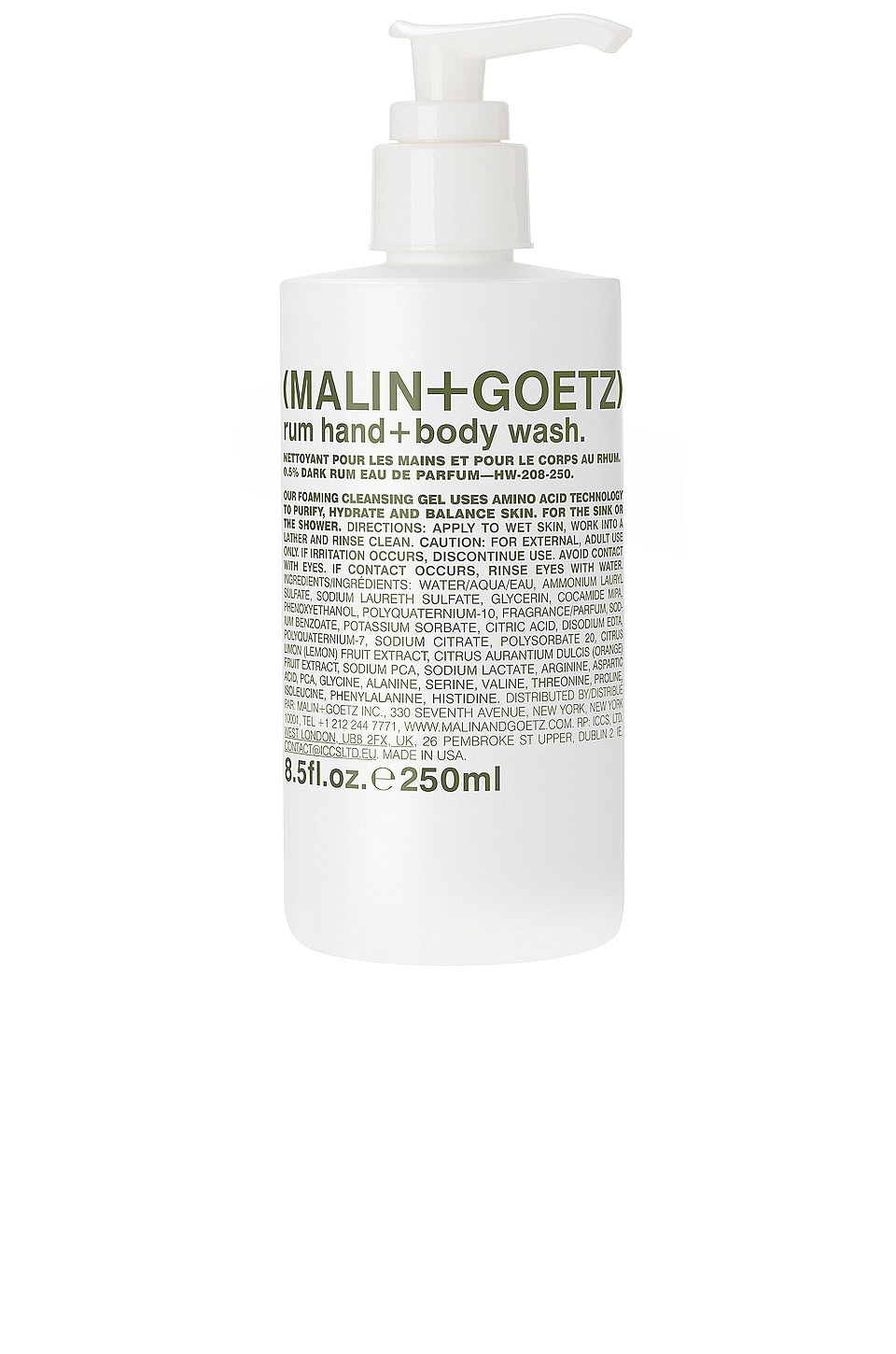 MALIN+GOETZ Rum Hand + Body Wash