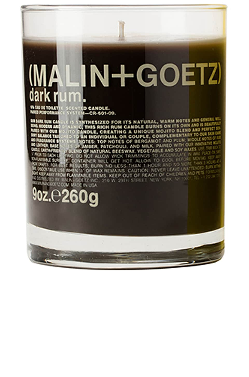 MALIN+GOETZ Dark Rum Candle