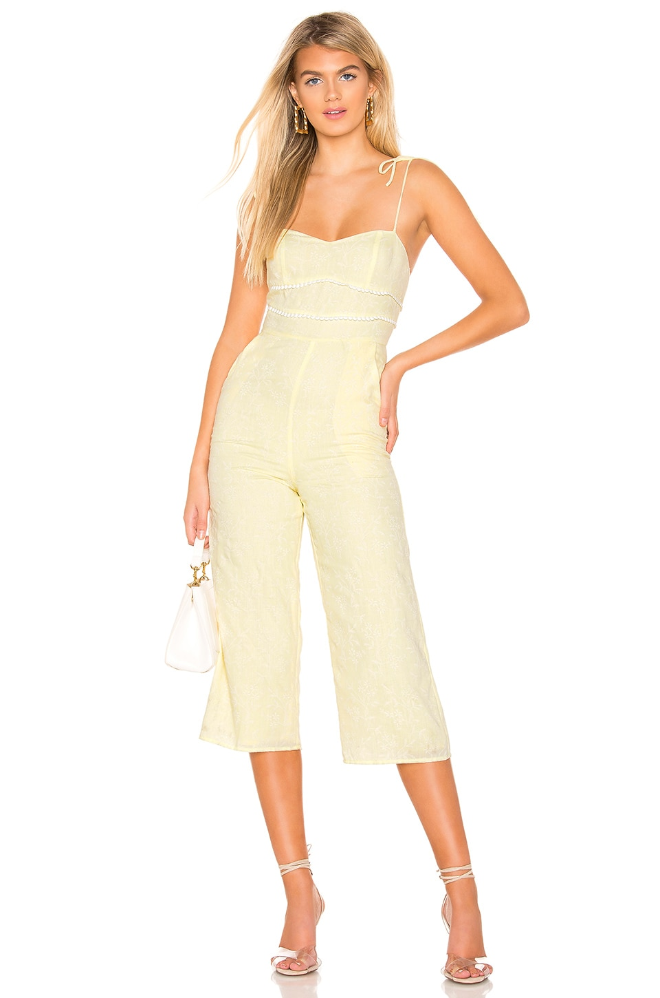 MAJORELLE Portman Jumpsuit in Baby Yellow