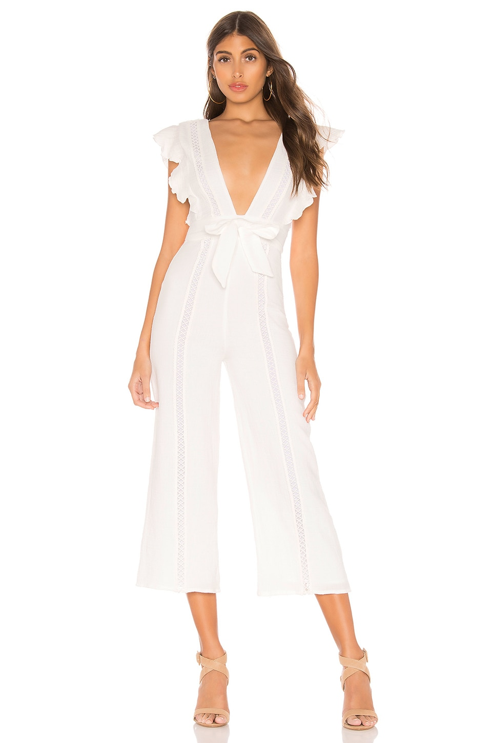 MAJORELLE Sonoma Jumpsuit in Ivory
