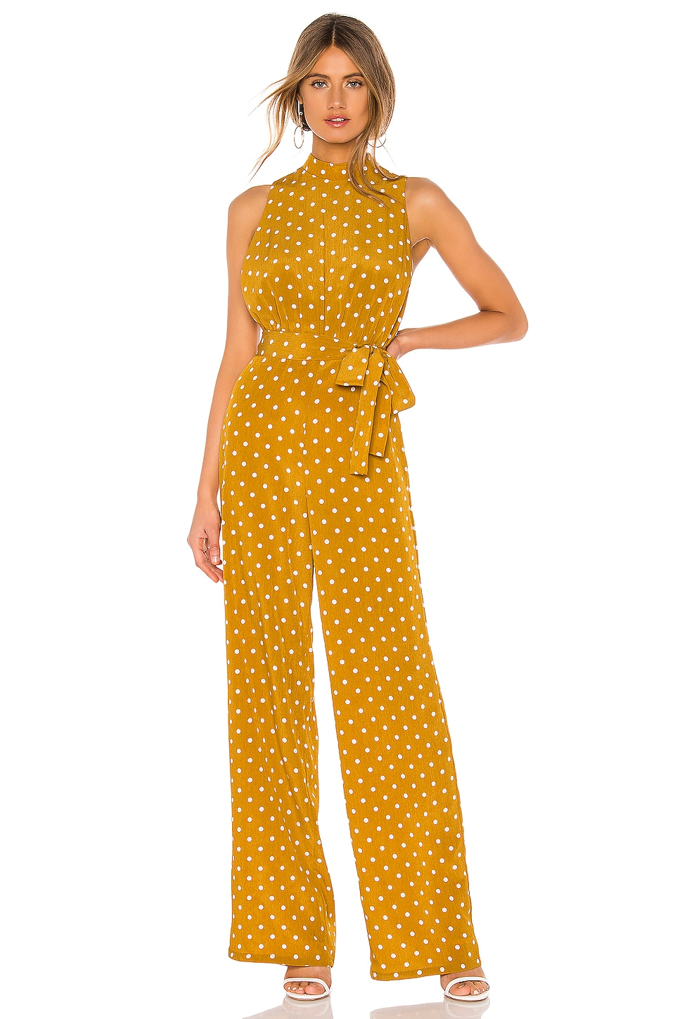 MAJORELLE Fili Jumpsuit in Yellow Dot