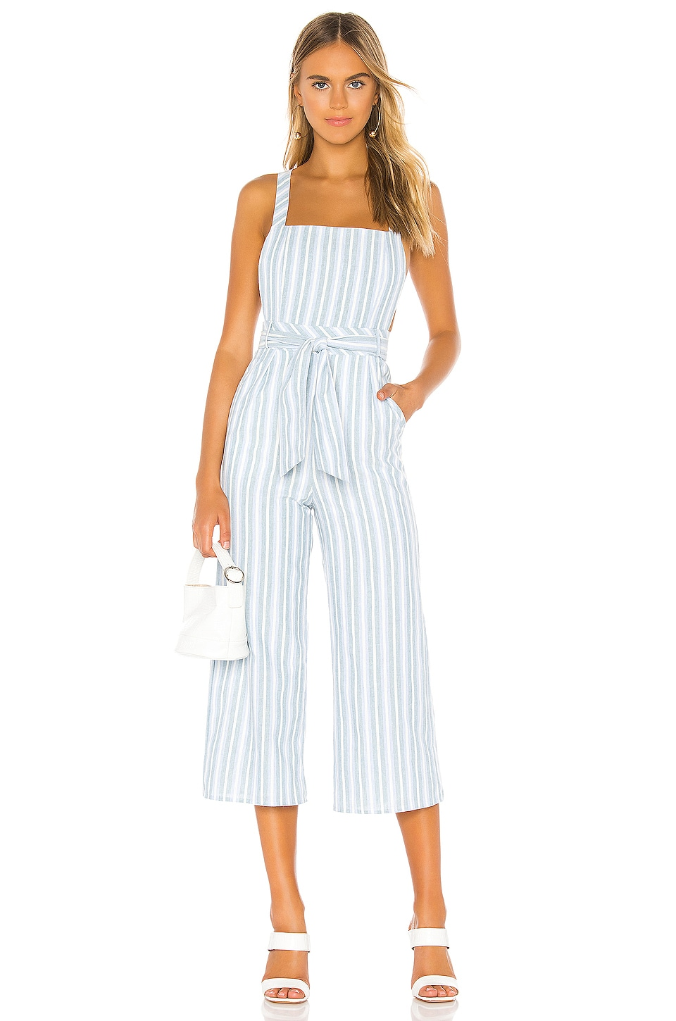 MAJORELLE Francis Jumpsuit in Blue Chambray