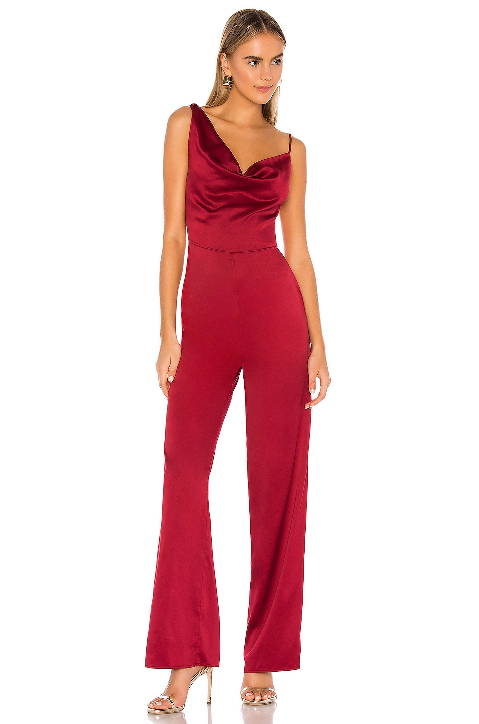 MAJORELLE Clark Jumpsuit in Cranberry Red