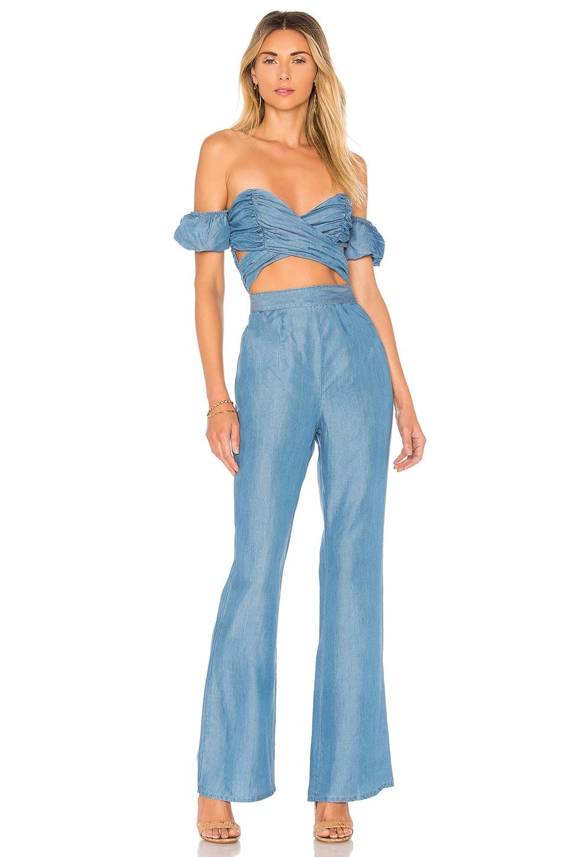 MAJORELLE Memphis Jumpsuit in Blue Jean