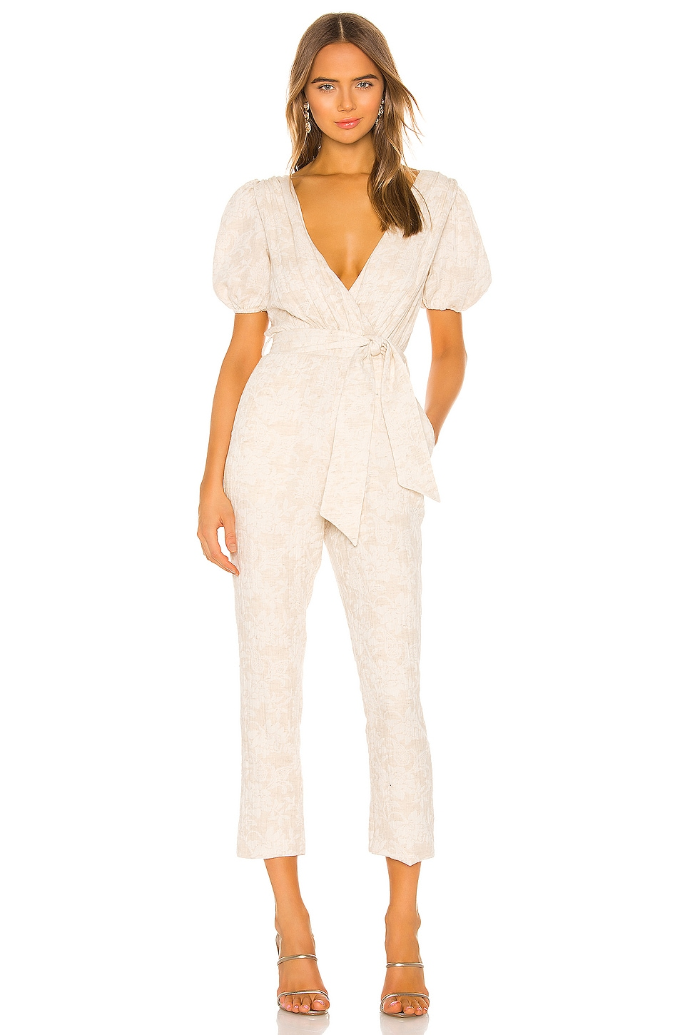 MAJORELLE Brina Jumpsuit in Oatmilk