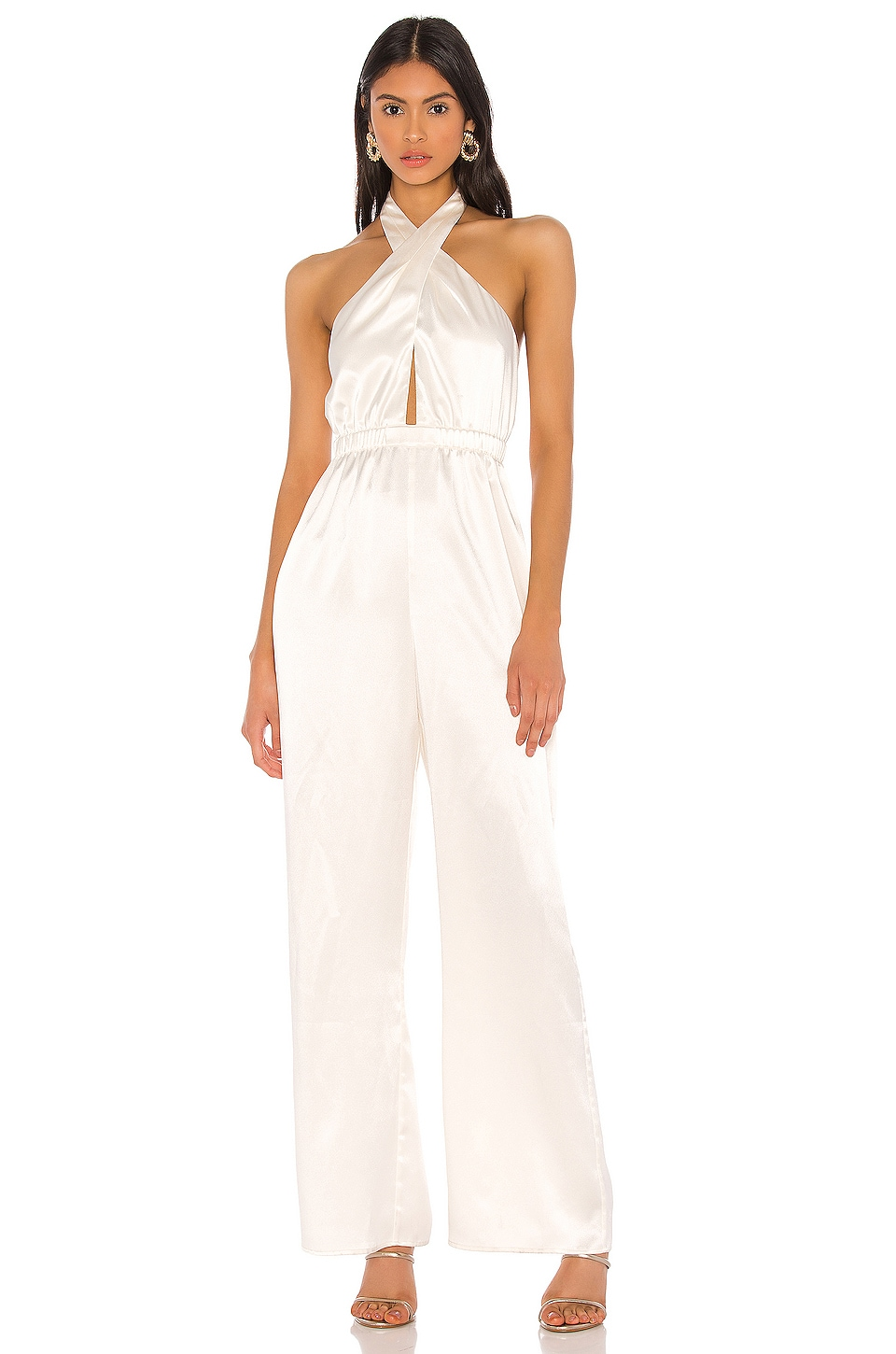MAJORELLE Voltaire Jumpsuit in Ivory