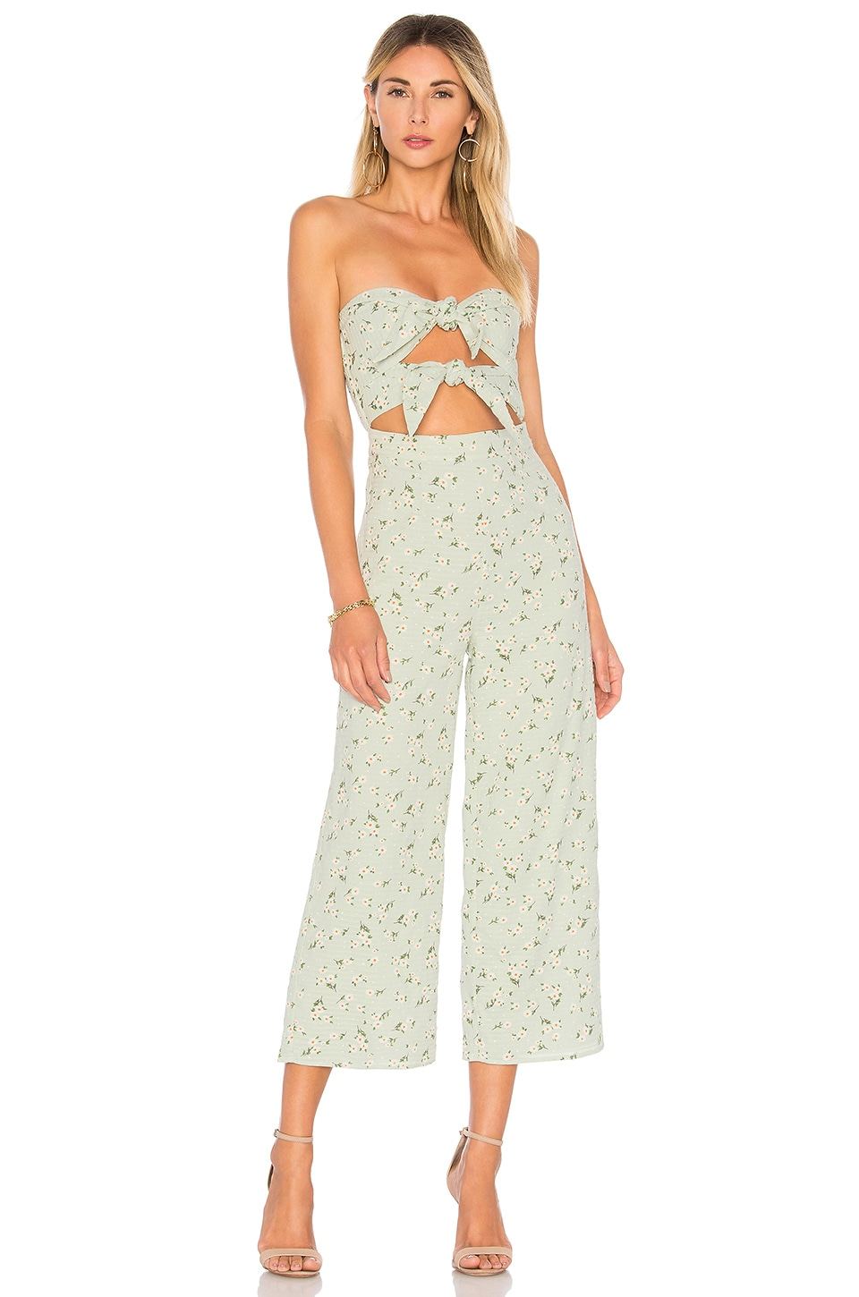 MAJORELLE Tessa Jumpsuit in Mint Green