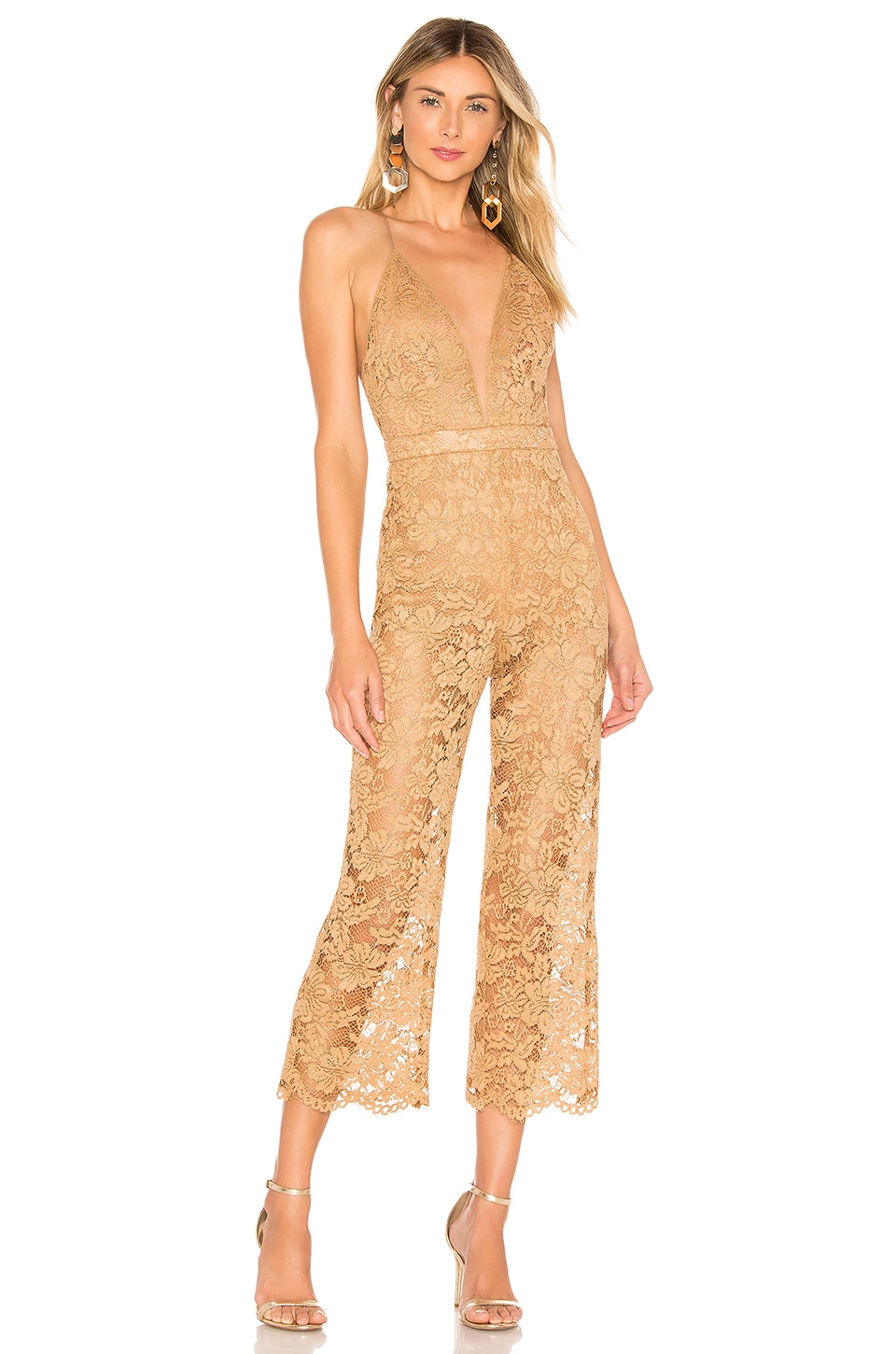MAJORELLE Brandy Jumpsuit in Golden Luxe