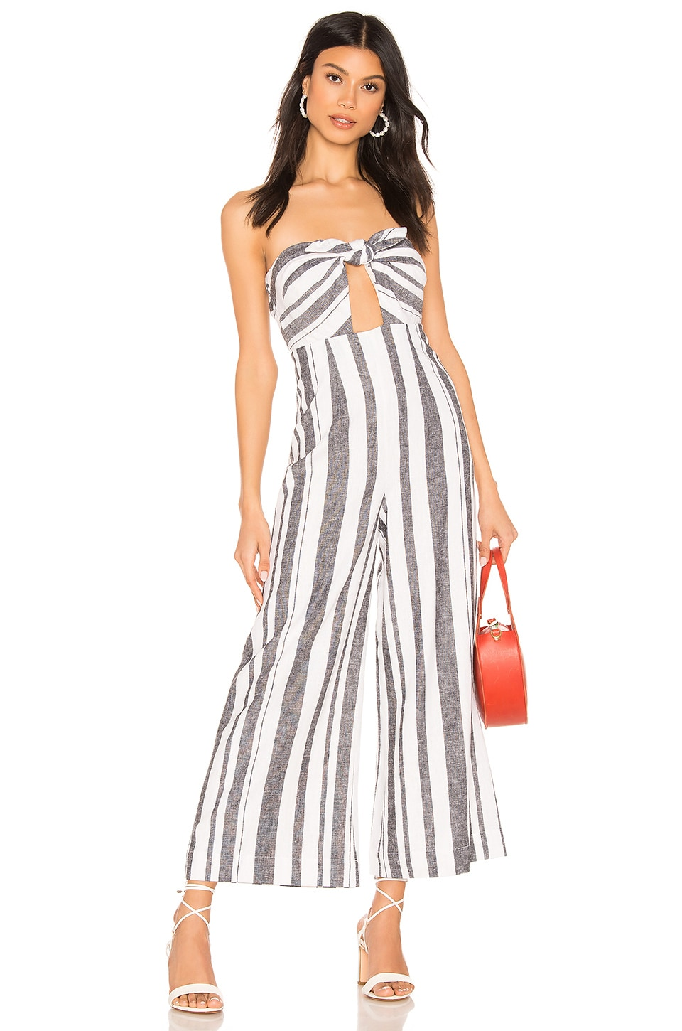 MAJORELLE Miles Jumpsuit in Blue Stripe