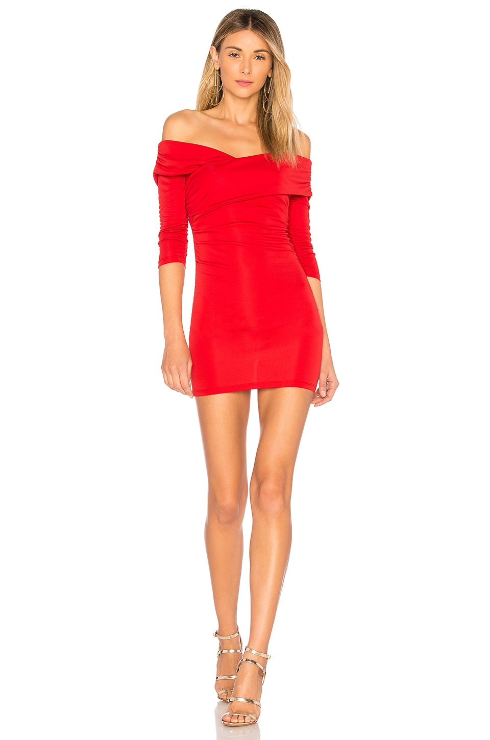 MAJORELLE Cypress Dress in Red