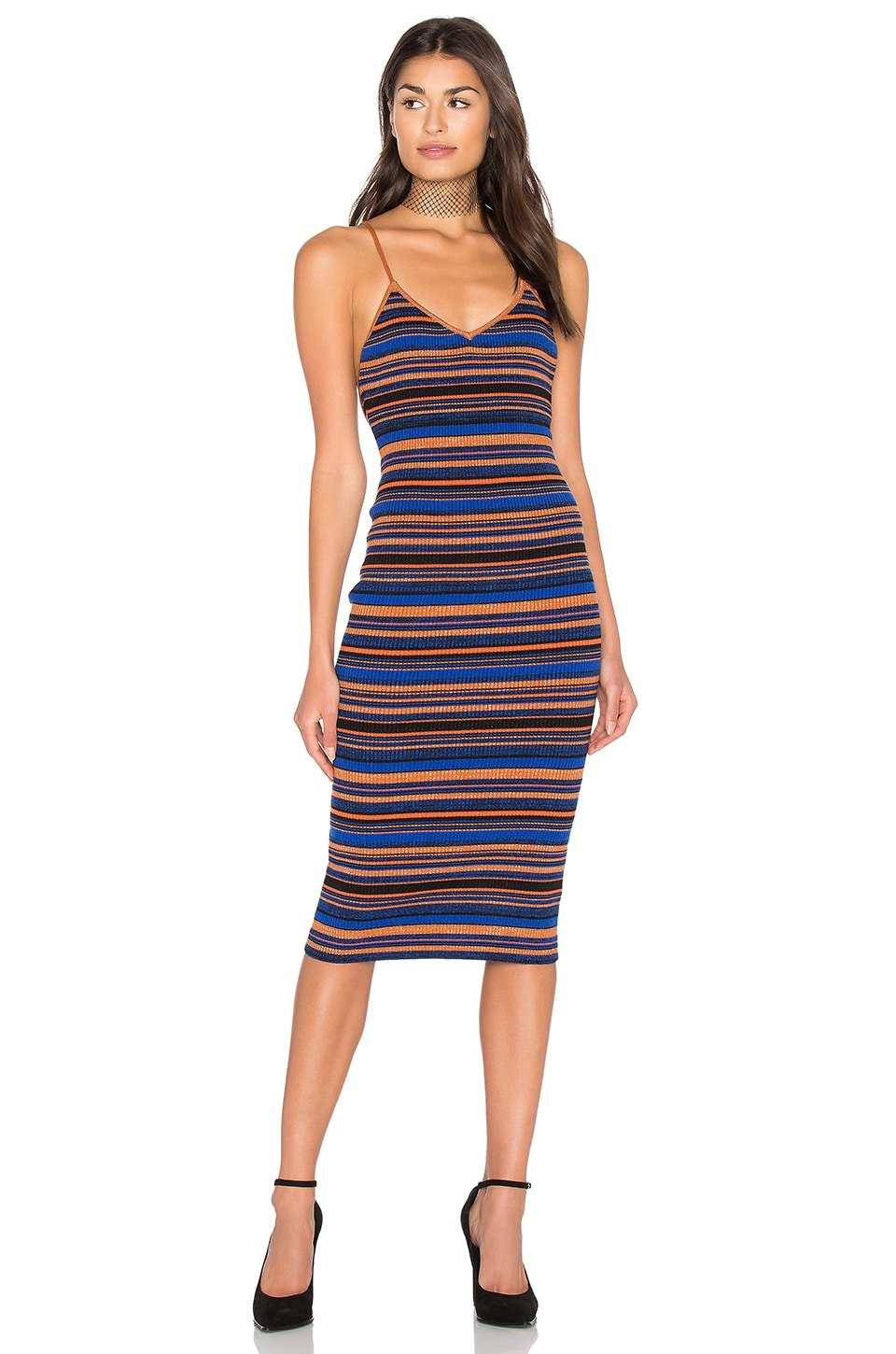 MAJORELLE Allison Dress in Stripe