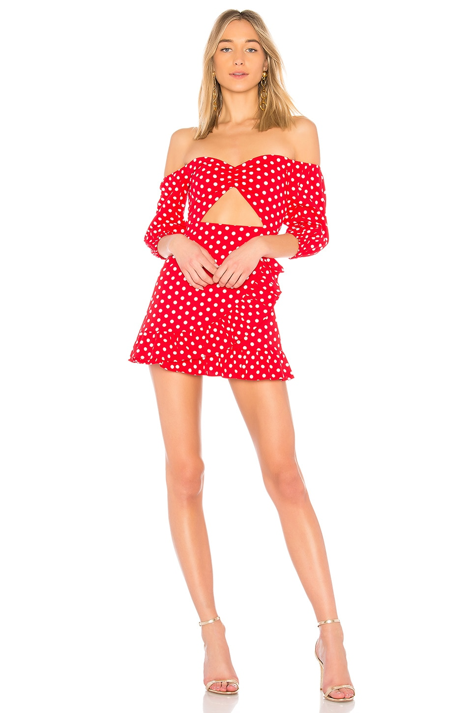 MAJORELLE Michelle Dress in Polka Dot
