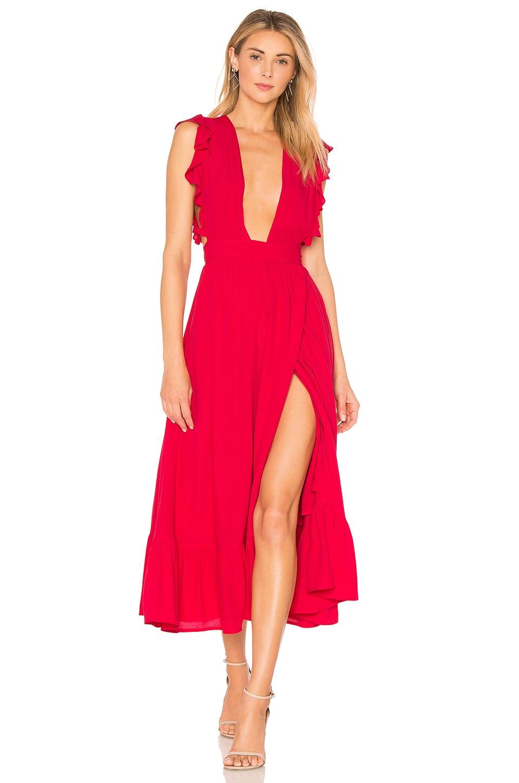 MAJORELLE Mistwood Dress in Red