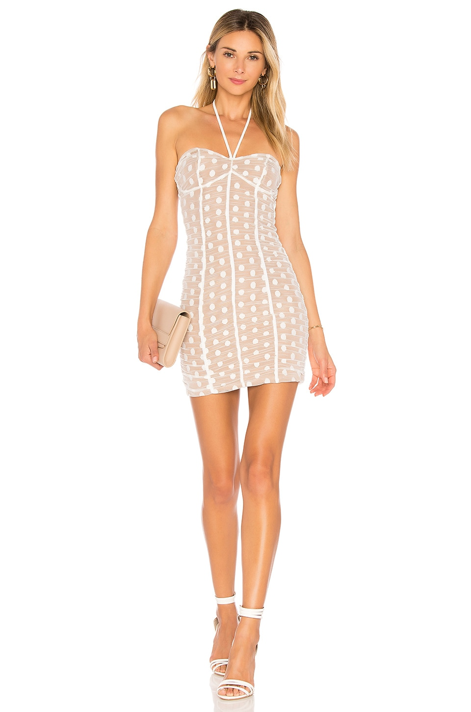 MAJORELLE Clementine Dress in White