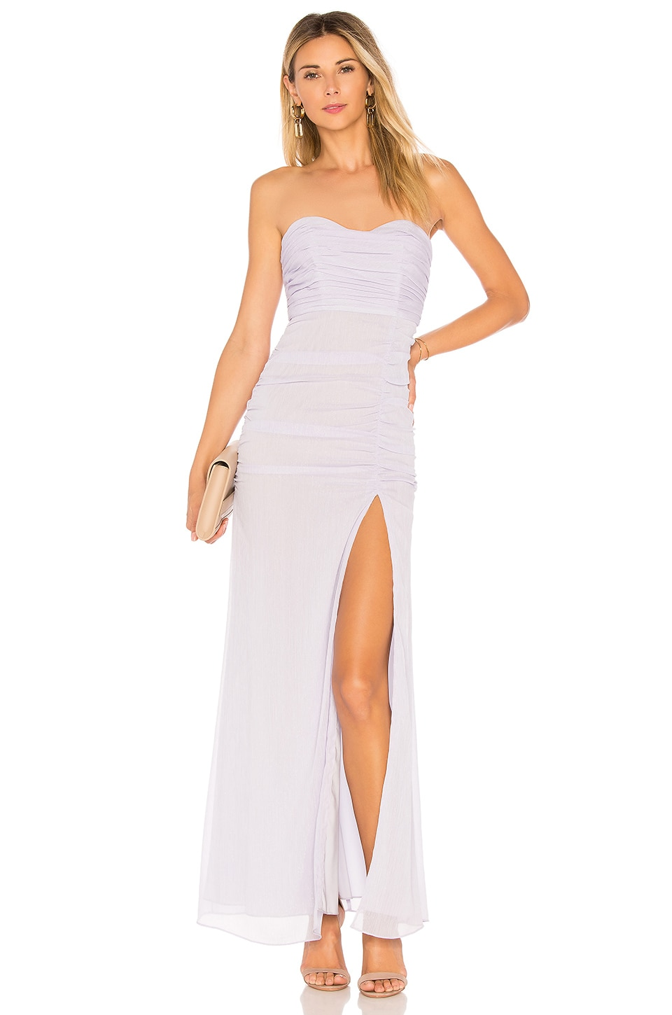 MAJORELLE Iridessa Dress in Powder