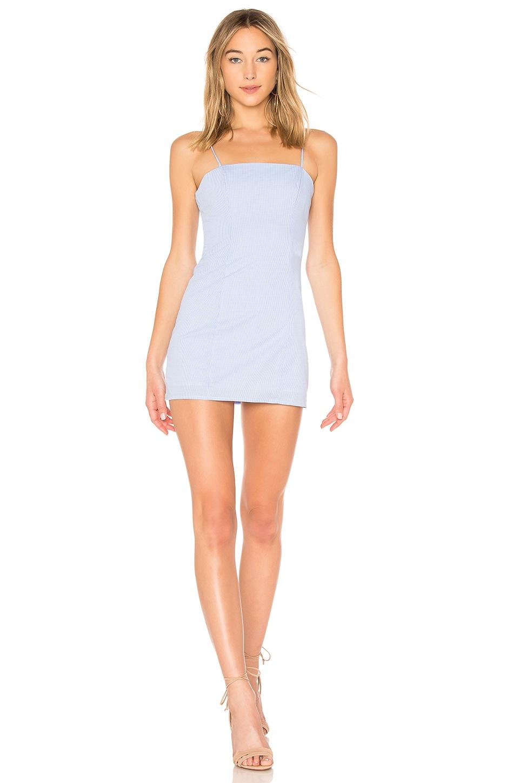 MAJORELLE Pearson Dress in Blue Check