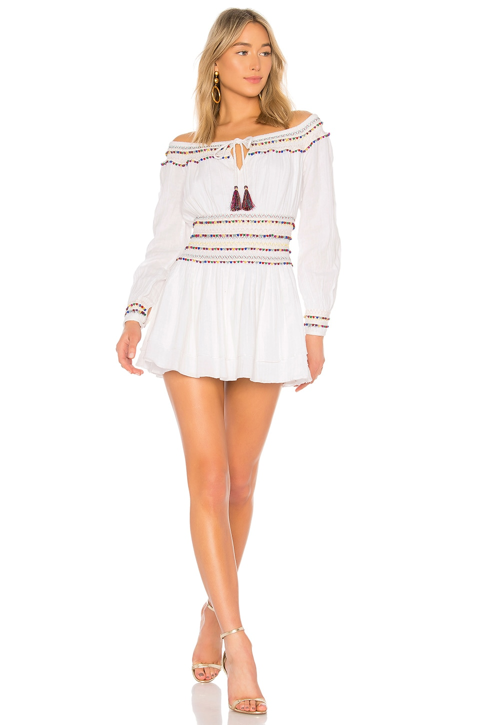 MAJORELLE Carly Marie Dress in White Multi