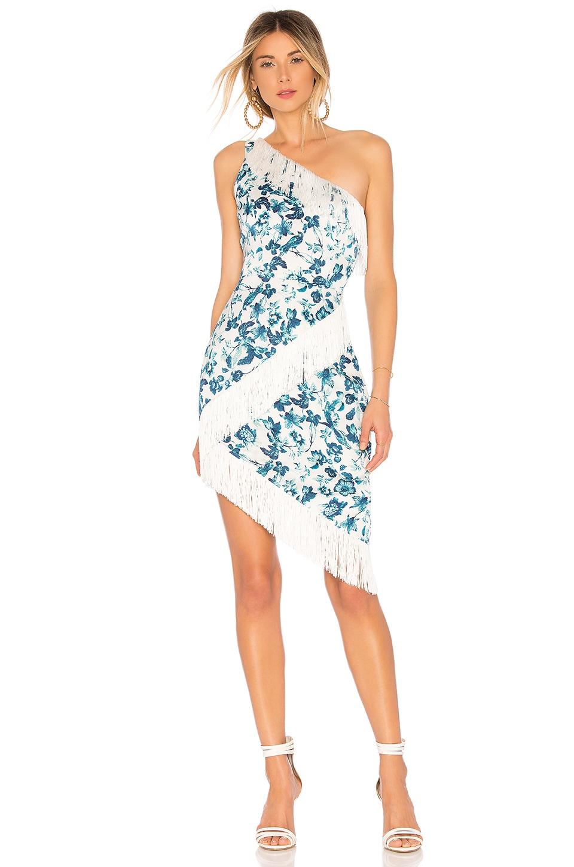 MAJORELLE Serena Midi Dress in White Riviera