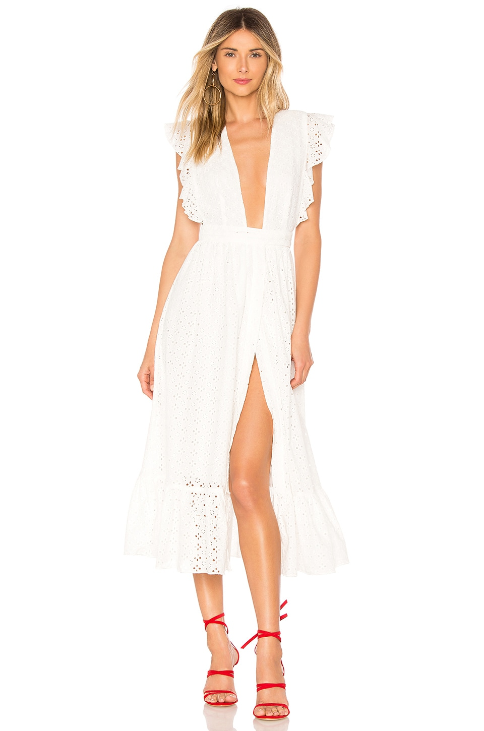 MAJORELLE Mistwood Dress in White