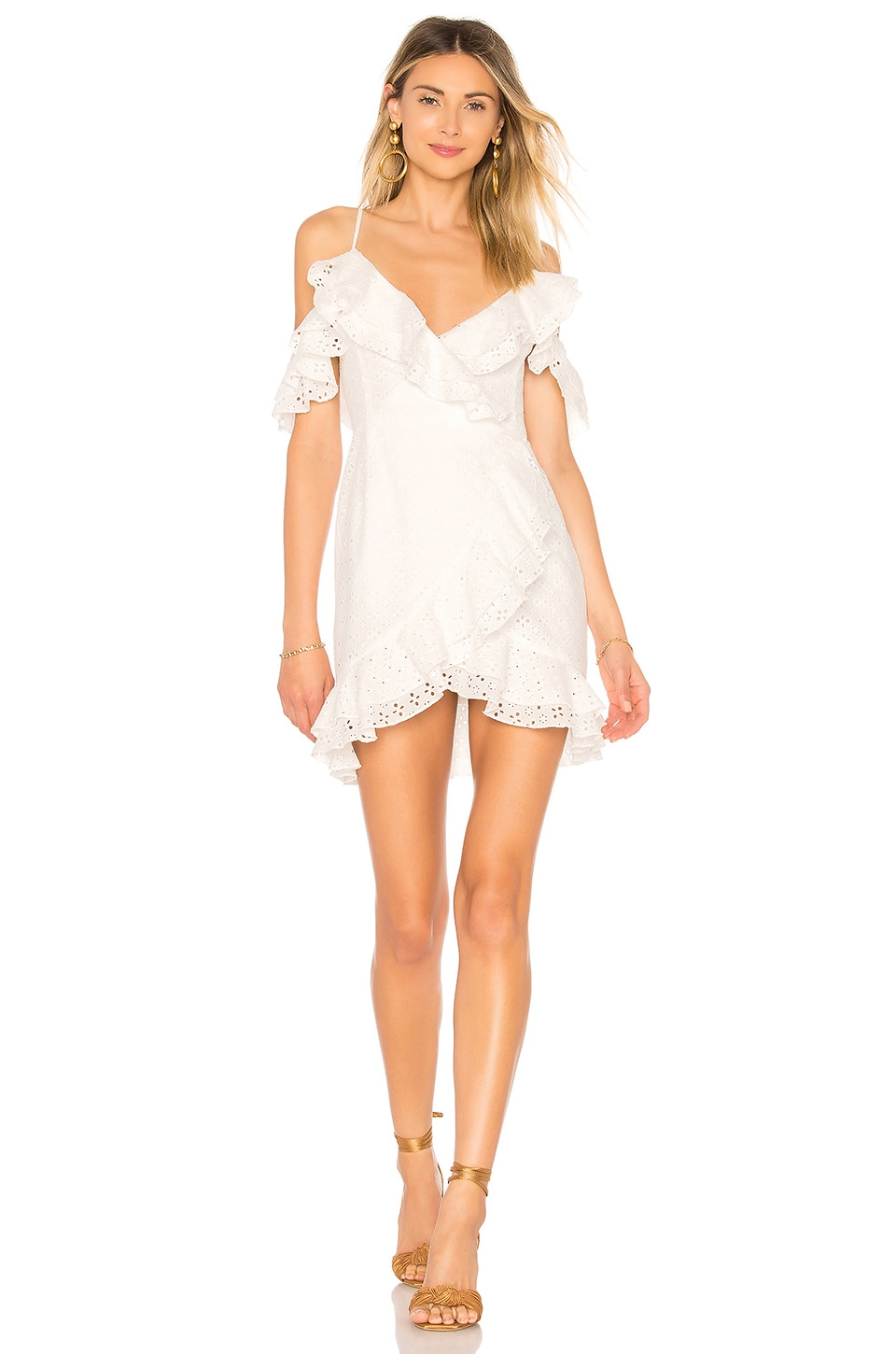 MAJORELLE Hayes Dress in White