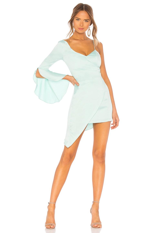 MAJORELLE Georgina Mini Dress in Spearmint Blue