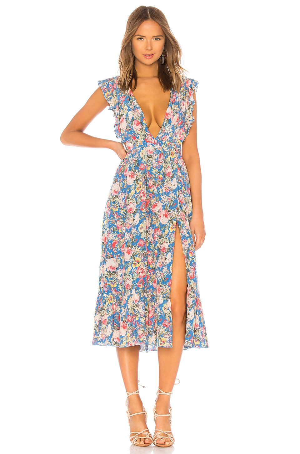 MAJORELLE Mistwood Dress in Blue Multi