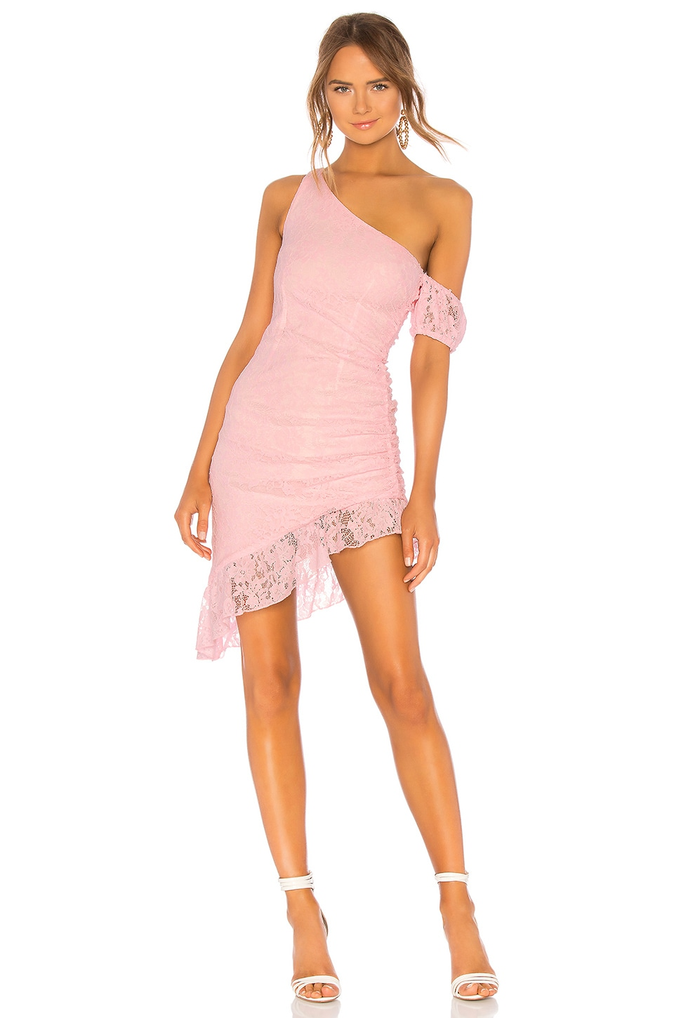 MAJORELLE Mary Ann Mini Dress in Baby Pink